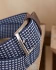 Riemen - Blauwe riem met print