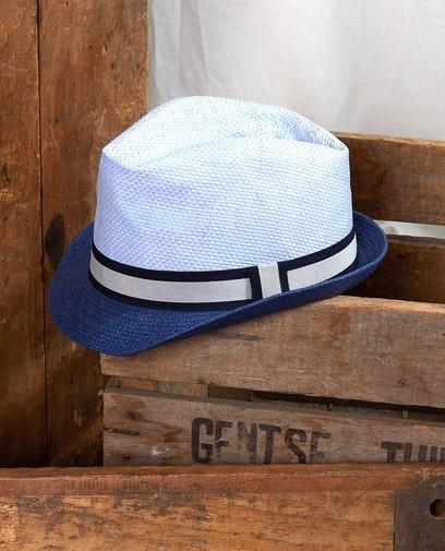 Chapeau bleu avec un ruban Communion