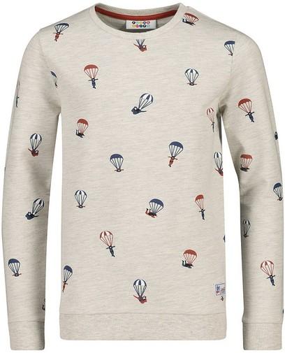 Lichtgrijze sweater met print