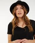 Zwart T-shirt van biokatoen Sora - met V-hals - Sora