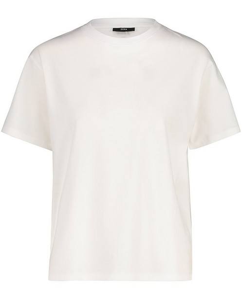 Wit T-shirt van biokatoen Sora - stretch - Sora
