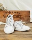 Witte sneakers met glitter, maat 30-38 - zilverkleurige glitter - Sprox