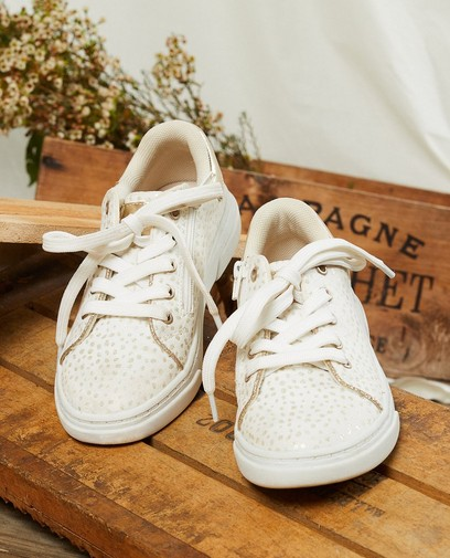 Sneakers met gouden glitter, maat 30-38