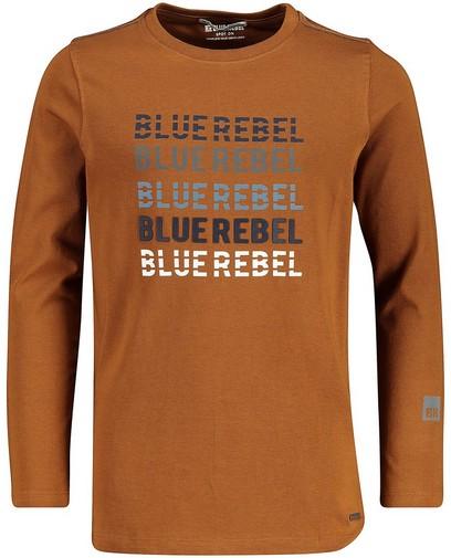 Longsleeve mit Aufschrift Blue Rebel