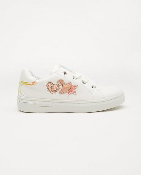 Witte sneakers met glitter, maat 27-32 - en mermaid-details - Sprox