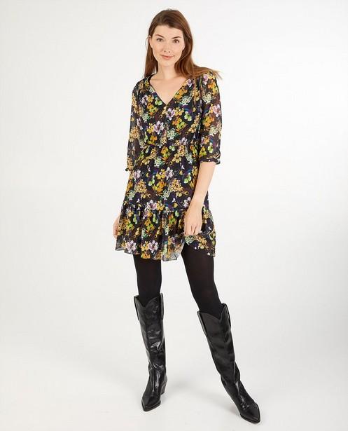 Zwarte jurk met print Aterlier BXL - allover - Atelier BXL
