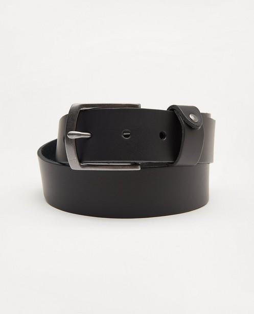 Zwarte riem van leer - met grijze gesp - JBC