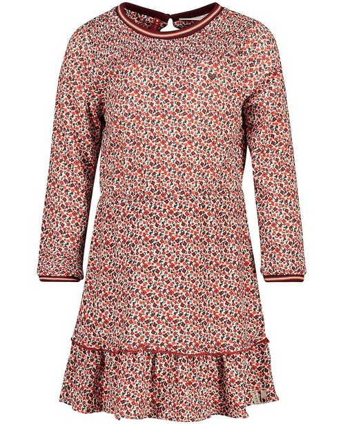 Robe avec imprimé fleuri Looxs - avec des smocks - Looxs