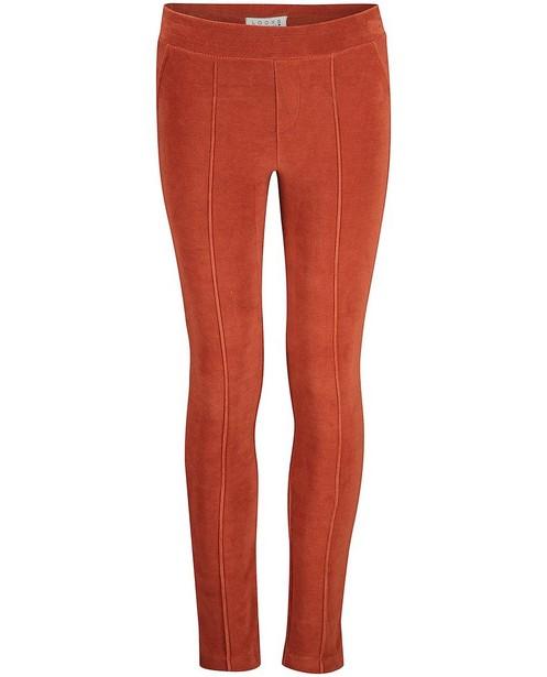 Bruine broek van fluweel Looxs - stretch - Looxs