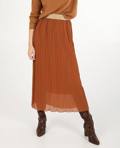 Jupe plissée brune Ella Italia