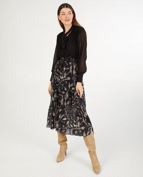 Jupe noire à imprimé Ella Italia - effet plissé - Ella Italia