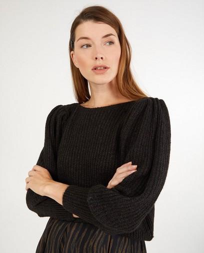 Pull noir en tricot