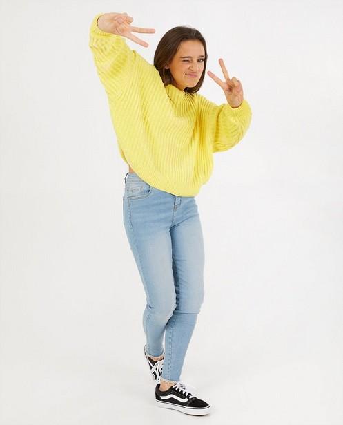 Gele trui van chenille - gebreid - Groggy