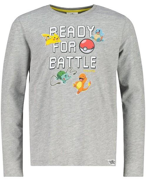 Grijze longsleeve met print Pokémon - gemêleerd - Pokemon