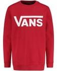 Sweat rouge à inscription Vans - logo-sweat - Vans