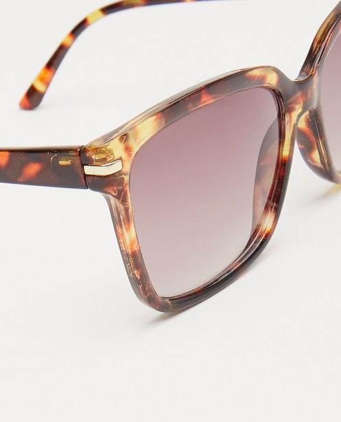Zonnebrillen - Bruine zonnebril met print