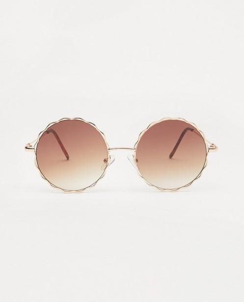 Gegolfde zonnebril - met metalen montuur - JBC