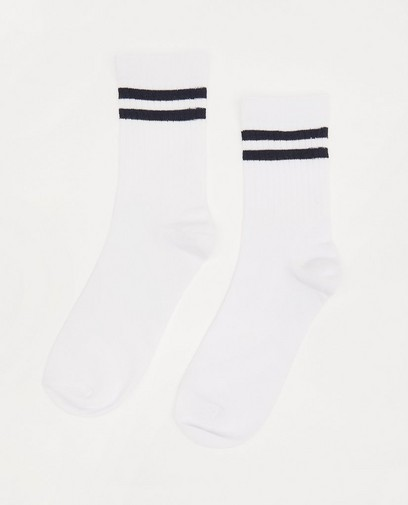 Chaussettes blanches rayées