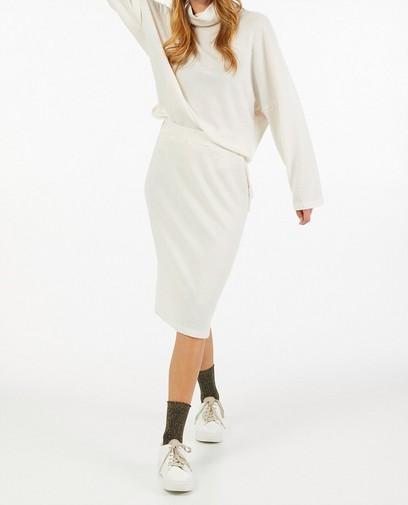 Gebreide rok in off-white Ella Italia