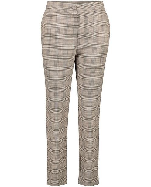 Pantalon brun à imprimé Ella Italia - fil métallisé - Ella Italia