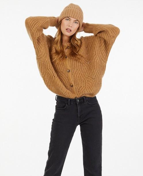 Cardigans - Cardigan beige en tricot