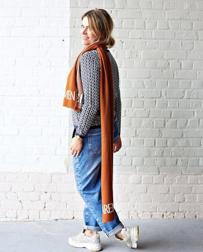 Een leuke print van Karen Damen fleurt je outfit