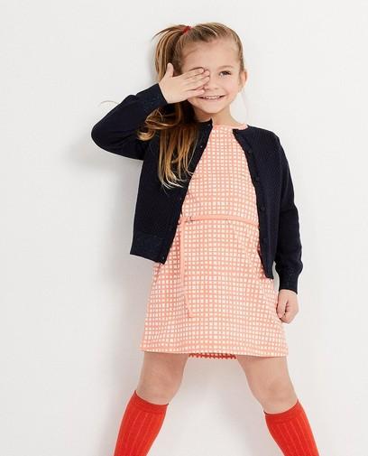 Preppy geruit kleedje in een girly lentekleur